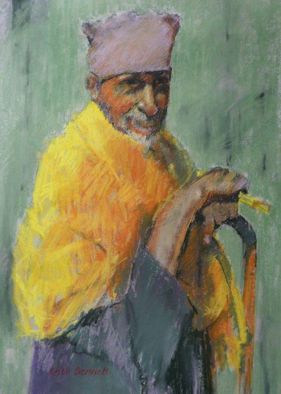 Ethiopian priest with stick