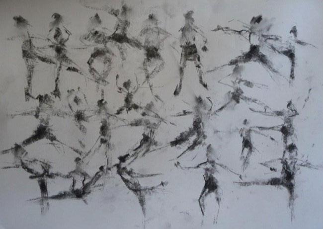 National Ballet warm-up