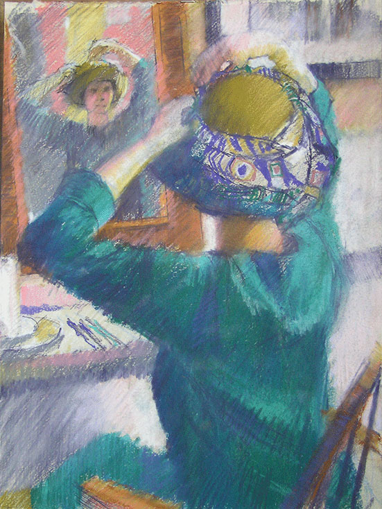 Adjusting the hat