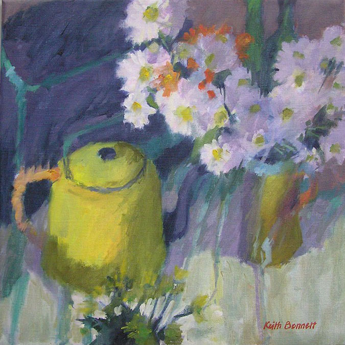 Still life with yellow teapot